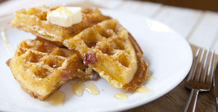 Ham and Cheese Waffles | Recipe | Ham And Cheese, Waffles and Hams