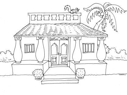 Coloriage maison 23 tipos de vivienda pinterest - Dessin maison a imprimer ...