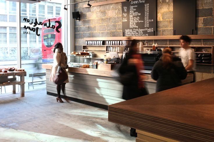 Salvation Jane, Shoreditch, London. Expect great coffee, Aussie influenced breakfast and brunch options, and lunch to eat in or take away. Location: Unit 2, 1 Oliver's Yard, 55 City Road. Shoreditch, London EC1Y 1HQ
