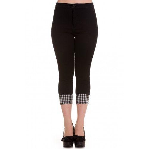 Hell Bunny - Sarah Rose Capri Pants / Pedal Pushers (Plus Size Available)