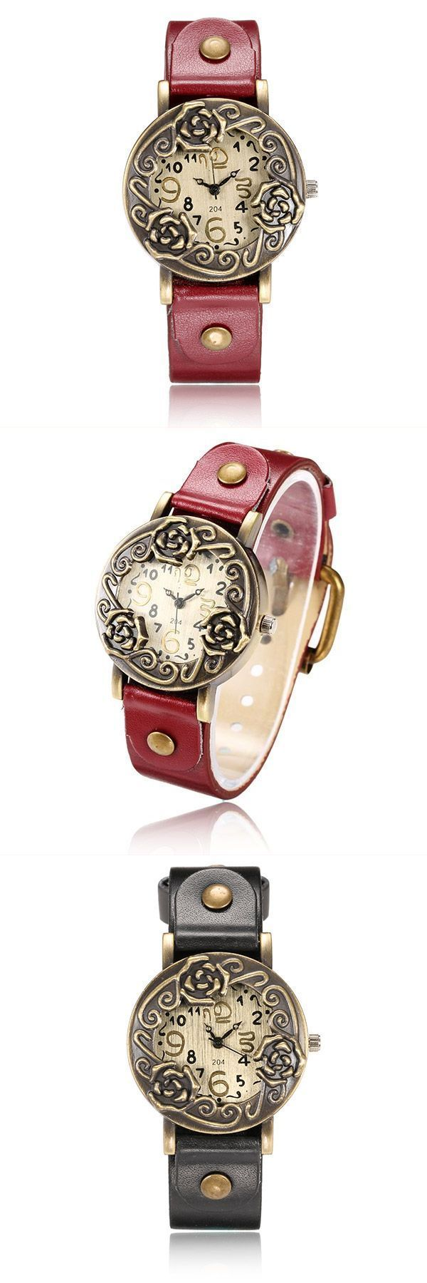 Yazole 204 vintage pu leather band women analog wrist watch retro style jewelry #retro #style #office #chair #retro #style #vector #retro #style #zippo #style #retro #année #70