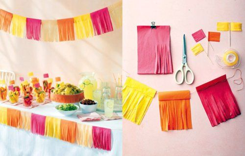 Tissue Paper Buntings