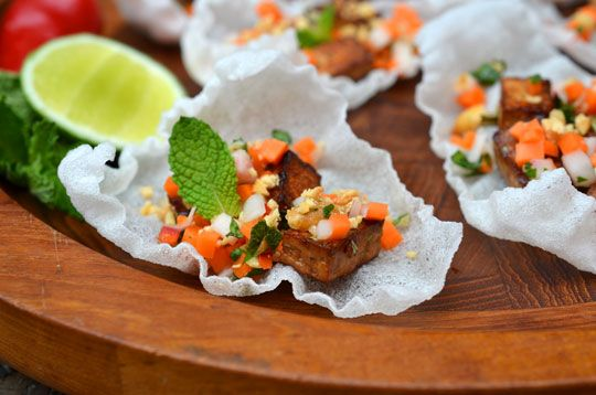 Vietnamese-Inspired Rice Crisps