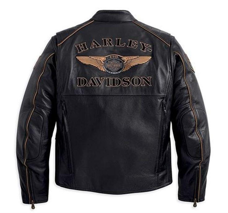 Harley Davidson Leather Coats | Harley-Davidson® Men's 110th Anniversary Leather Jacket 97145-13VM
