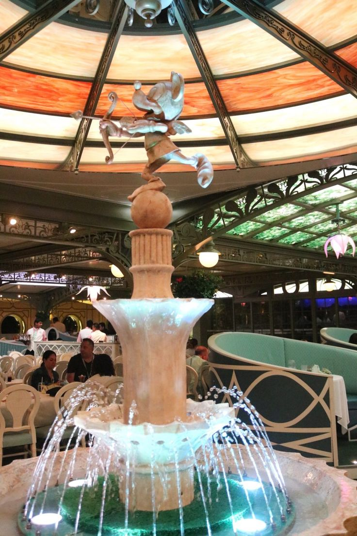 Dining at Enchanted Garden on the Disney Dream Disney