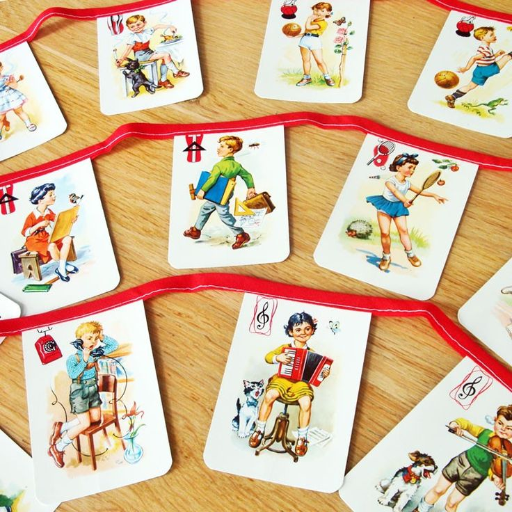 garland: Old Cards, Playing Cards, Plays Cards, Vintage Cards