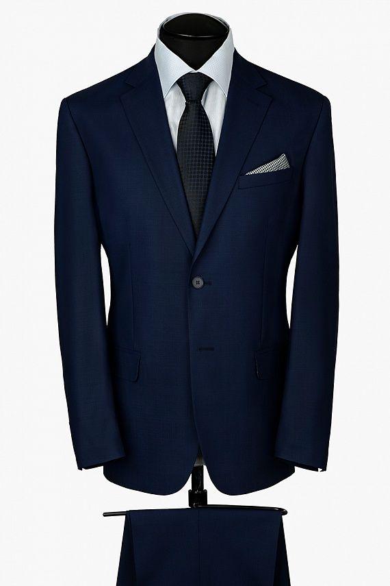 Мужской шерстяной костюм M CIMINO LUX  синего цвета от BAZIONI в интернет-магазине Asobio.ru