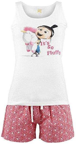 Fluffy Love Girl-Shorts schwarz - EMP exklusives Merchandise MINIONS DthdaNx
