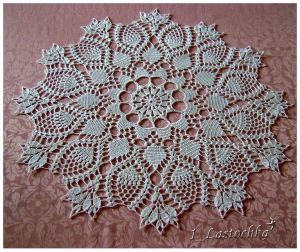 Lovely Crochet Doily With Free Graph Pattern Doilies