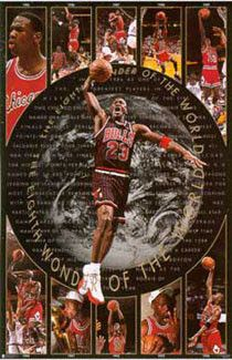 Rare Chicago Bulls Michael Jordan Eighth Wonder Costacos Poster Sealed NM-Mint
