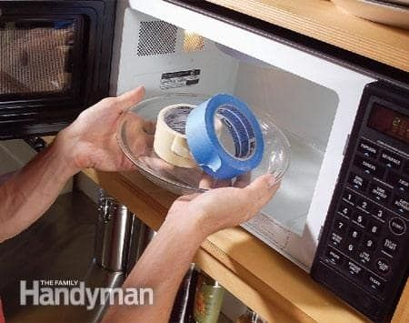 If your tape is old and won't roll without peeling, place it in the microwave for 10 seconds.