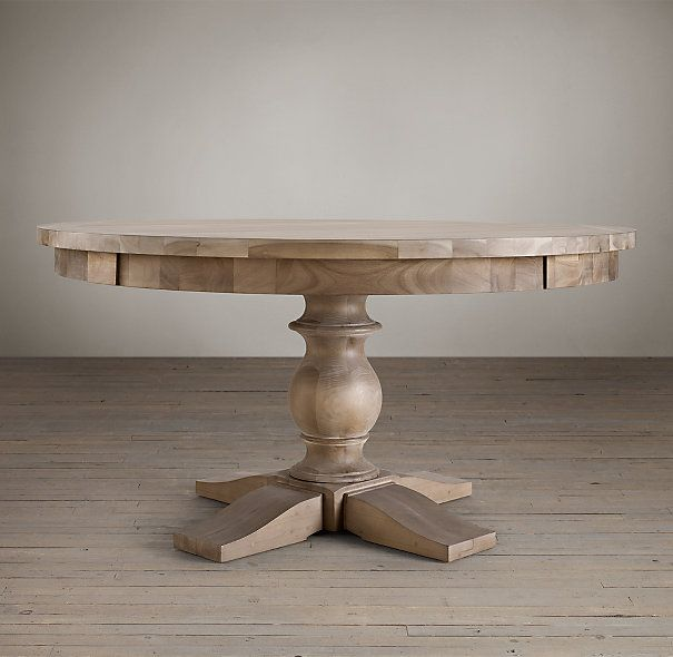 17th Century Monastery Round Dining Table In Acacia Grey
