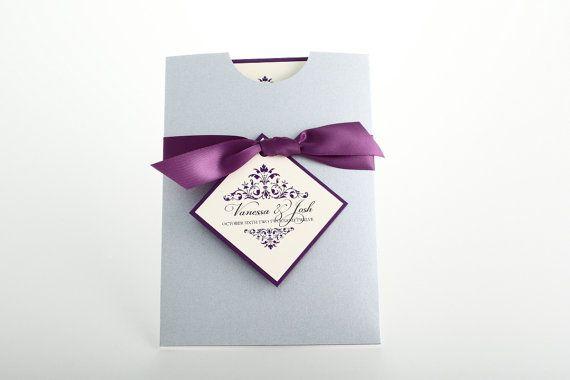 Tasche Style Hochzeitseinladung mit Multifunktionsleiste und Tag-romantische auf Etsy, CHF 17.20