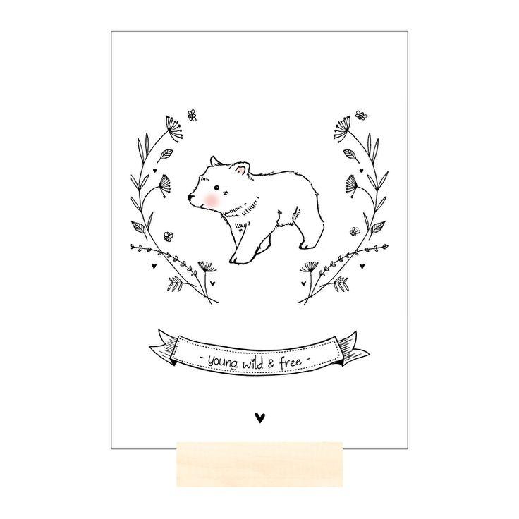 postkaart illustratie Marieke Ten Berge beer