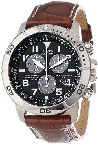"""Citizen Men's BL5250-02L """"Eco-Drive"""" Leather and Titanium Watch Citizen,http://www.amazon.com/dp/B000EQS0WK/ref=cm_sw_r_pi_dp_Htnisb1H894V9J5Y"""