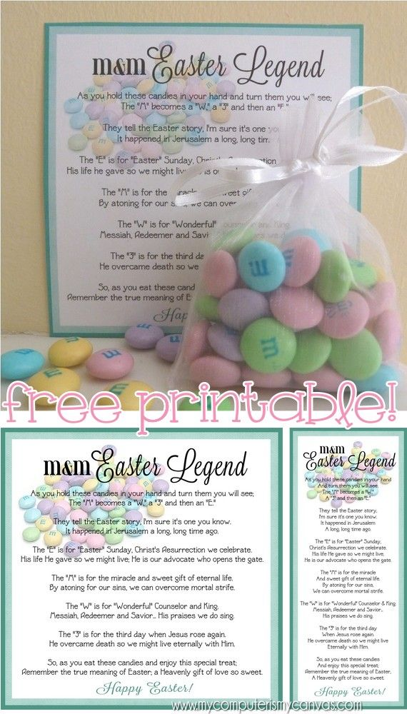 My Computer is My Canvas: EASTER M&M Legend - Free Printable!
