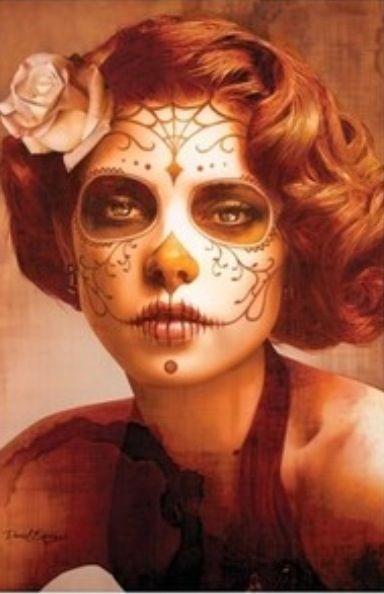 Sugar Skull Makeup and Hair