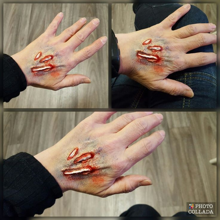 Wound Halloween makeup by kerstin