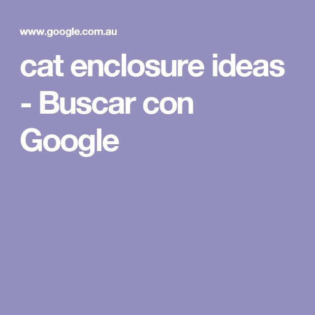 cat enclosure ideas - Buscar con Google