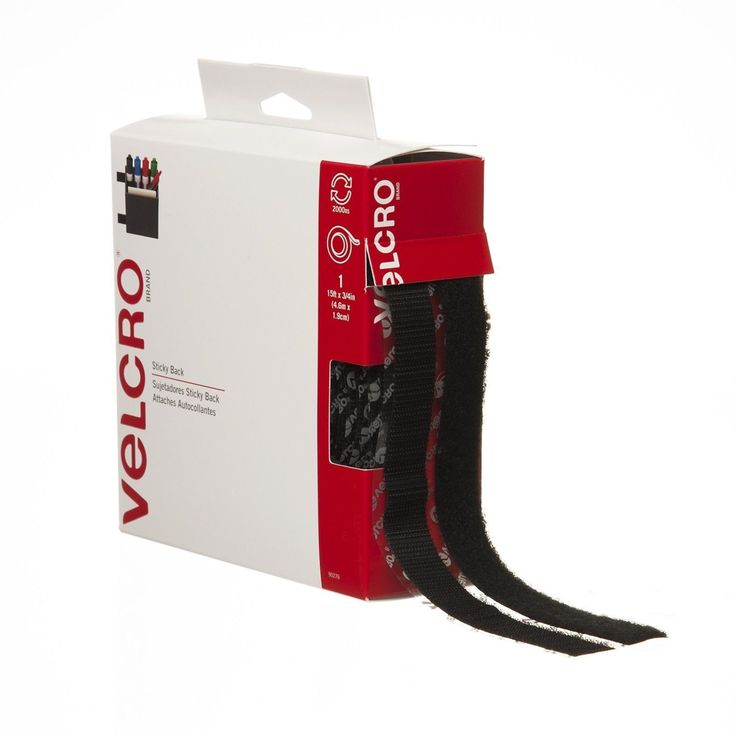 """VELCRO Brand - Sticky Back - 15' x 3/4"""" Tape - Black 15 Feet"""
