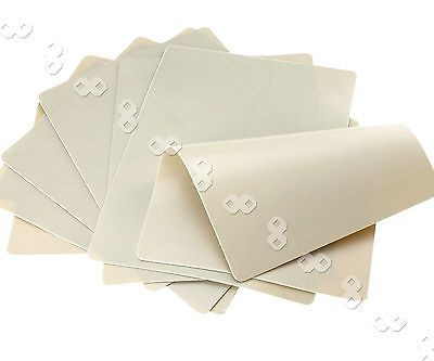 "10 x 20x15cm 8x6"" Double Side Tattoo Practice Skin Blank Plain"
