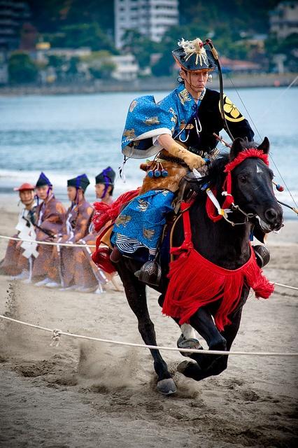 Japanese horse back archery - Yabusame