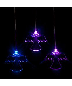 With fun acrylic shapes, these LED lights softly cycle through a spectrum of colours providing a soothing and gently stimulating light for the little ones. These battery operated lights can be hung  anywhere.