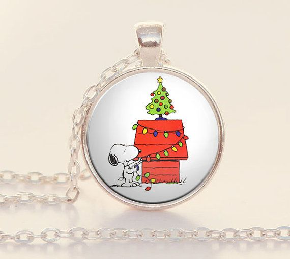 Snoopy - Christmas - Charlie Brown - Snoopy Necklace - Stocking Stuffer - Snoopy Jewelry - Snoopy Gifts - Gifts for Teen (Z1423)