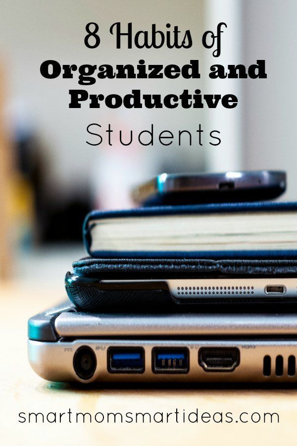 Habits of organized students | habits of productive students | Successful students | How to be an organized student