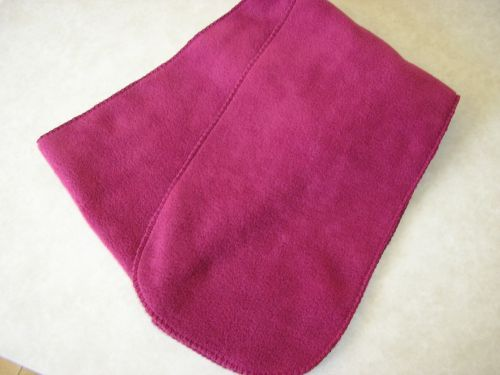 Cranberry Fleece Scarf