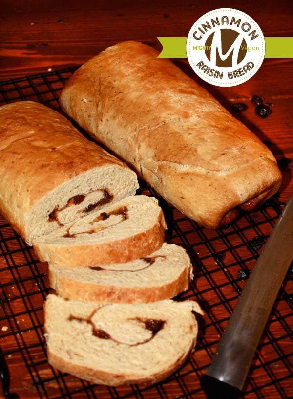 CINNAMON RAISIN BREAD /by Mighty Vegan #vegan #recipe