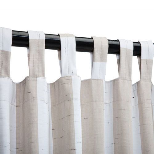 Sunbrella Curtain with Tab Decade Sand