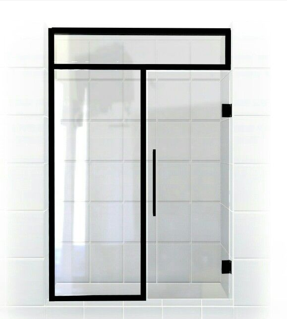 black bronze with clear glass gridscape series gs3 notso framed true divided light glass panes soft shower panelsshower doorsblack