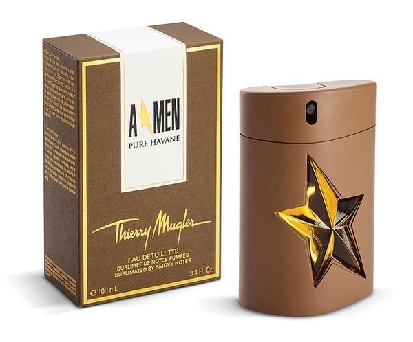 Thierry Mugler A*Men Pure Havane Eau de Toilette 100ml. Refined Cuban cigars and luxury perfumery mingle in a visionary Thierry Mugler fragrance. Aromatic notes of honeyed tobacco enhance the original A*Men Eau de Toilette.