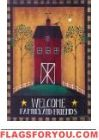 Welcome Barn House Flag