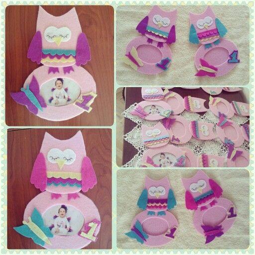 Owl birthday concept .... dogum gunu fikirleri baykus konsepti kece tasarim cerceve magnet