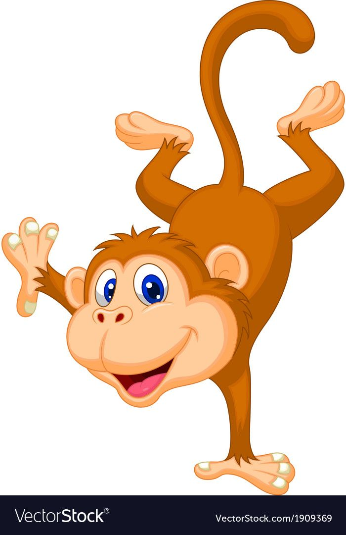 Vector Illustration Of Cute Monkey Cartoon Standing In Its Hand Download A Free Preview Or High Quality Ado Monkey Pictures Cartoon Monkey Cute Funny Cartoons