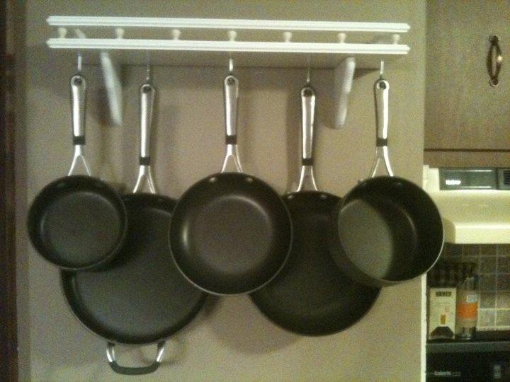 diy pot u0026 pan rack home depot
