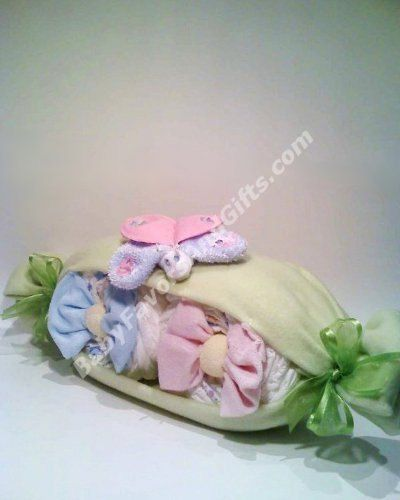 Very Cute Peas In A Pod Diaper Cake  Centerpiece or by babyfavors, $53.00