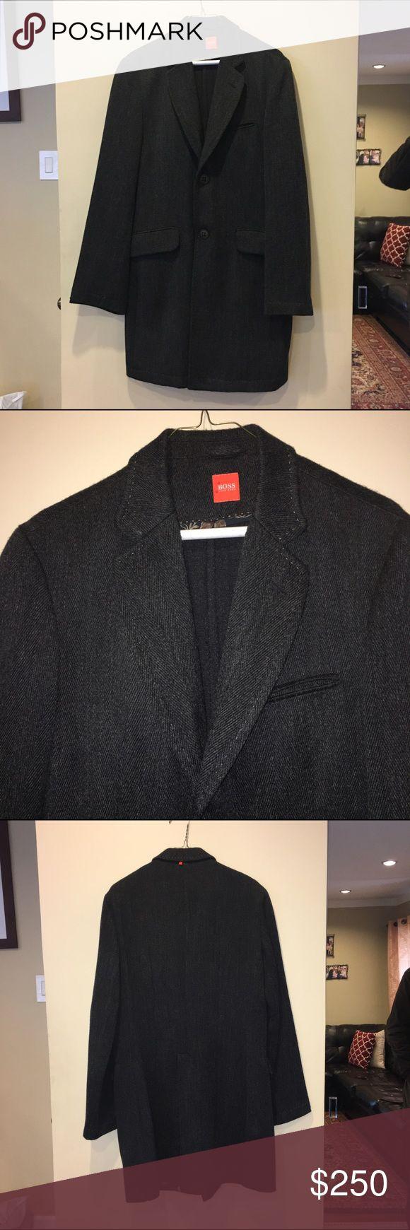Hugo boss orange label coat Hugo boss orange label coat. Wool blend. Great condition. Size 38R mens Hugo Boss Jackets & Coats
