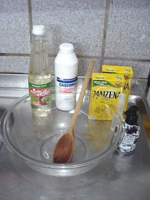 Ingredientes para preparar massa para biscuit caseira