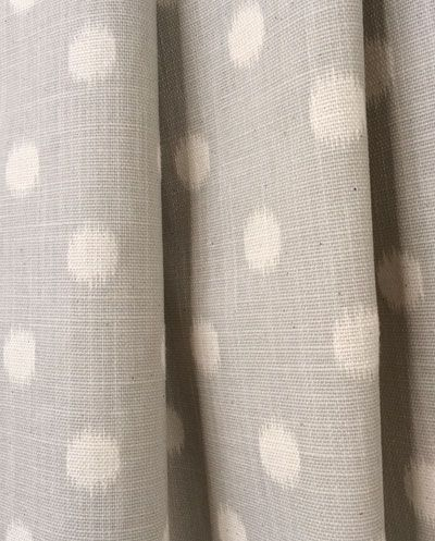 Fabric Option for custom Roman blinds from Tonic Living Fabric  Small Ikat Dot, Buff