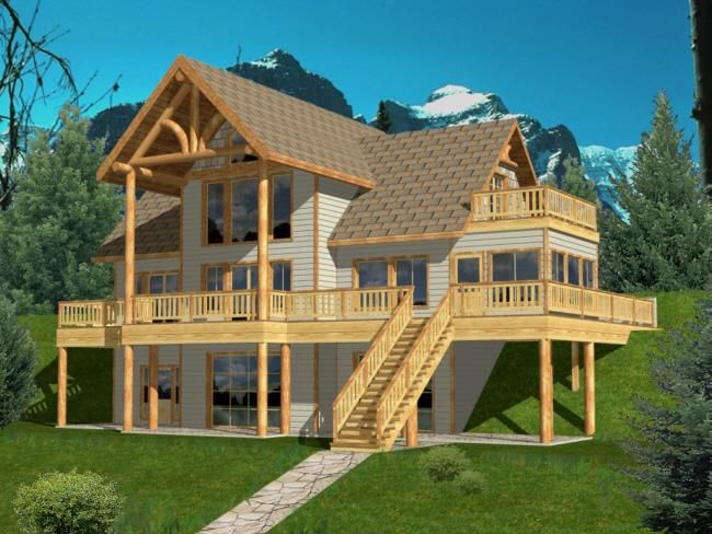 73 best Mountain House Plans images on Pinterest Covered front