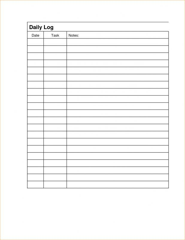 Daily Work Log Template Sign In Sheet Template Sign In Sheet Templates