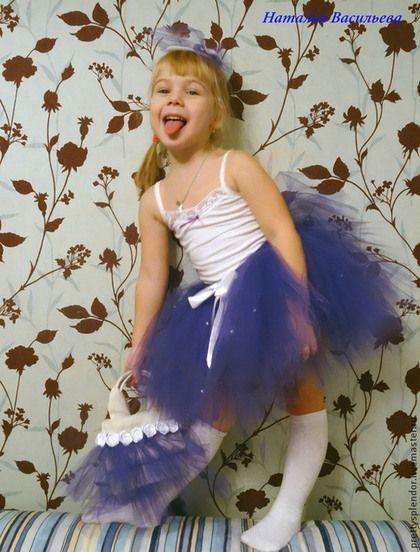 """Юбка-пачка """"Фиолетовая снежинка"""" - тёмно-фиолетовый,юбка-пачка,юбка пышная"""