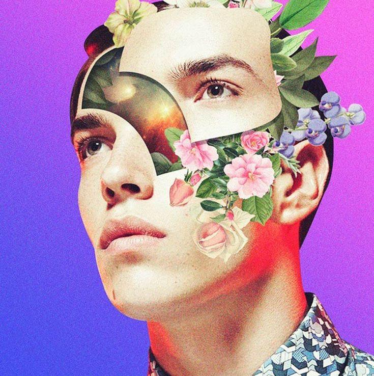 Une sélection des collages numériques deMathieu Saunier, aka Khan Nova, un étudiant graphiste français qui réalise des compositions colorées inspirées