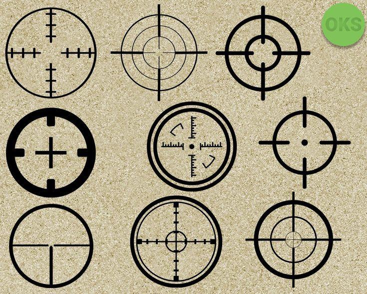 Sniper Target Svg Dxf Vector Eps Clipart Cricut Download Clip Art Svg Target Image