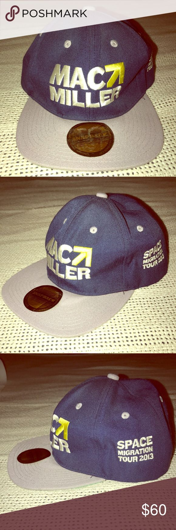 Authentic MAC MILLER Tour Hat. Got it at a concert in LA. 2013. Stickers attached. Mac Miller Accessories Hats