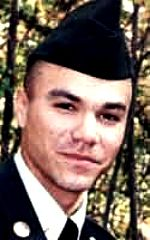 """Army SPC Dustin K. McGaugh, 20, of Derby, Kansas. Died September 30, 2003, serving during Operation Iraqi Freedom. Assigned to Headquarters & Headquarters Battery, 17th Field Artillery Brigade, Fort Sill, Oklahoma. Died of wounds sustained from a gunshot wound in a non-combat related incident in Balad, Salah ad Din Province, Iraq. SPC McGaugh's father said he was told his son was killed by """"friendly fire""""."""