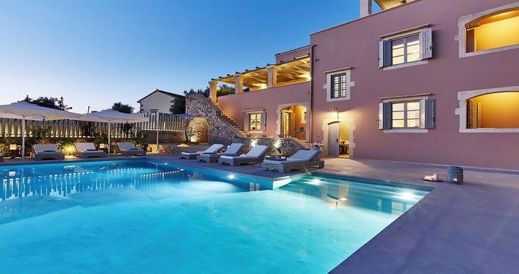 "Discover Villa ""Rouga"", Crete, Greece ! You can rent it ! #luxury #villa #rent #holidays #greece #vacances #grece #alouer #aroomwithaview #sea #bedroom #decoration #swimmingpool #beautiful #sunset #luxuryvilla"
